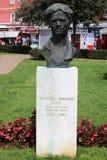 Bust of Matteo Benussi Cio, war hero, in Rovinj. Bust of Matteo Benussi Cio, war hero, on a plinth in a park in Rovinj, Rovigno, Croatia royalty free stock photography