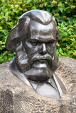 Bust monument of Karl Marx Stock Photos
