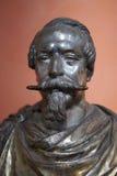 Bust of Napoleon III. Bronze bust of Napoleon III Bonaparte, Ajacco, Corsica, France Stock Photos