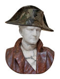 Bust of Napoleon isolated on white Stock Photos