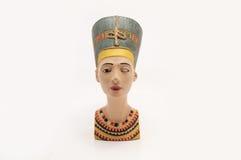 Bust of Nefertiti. The great royal wife of Pharaoh Akhenaten Stock Photos