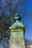 Bust of Nicolai Lauritz Hvidt Stock Image