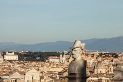A bust of one of the patriots of Janiculum, Rome, Italy stock photo