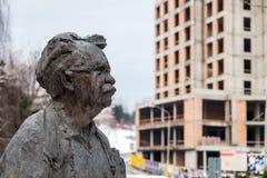 Bust of the painter Vincent Hloznik stock photos