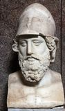 Bust of Pericles. Roman copy of the original by Kresilas Stock Photos