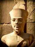 Bust of pharaoh Tutankhamun in Karnak Temple (Luxor, Egypt). Detail of bust of Pharaoh Tutankhamun in one of the precincts of the Temple of Karnak (Luxor, Egypt Stock Photos