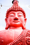 A bust of a pink Buddha Stock Image