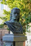 Bust of the poet. Bust in honor of the poet in the front of language school Stock Photography