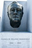 Bust of President Roosevelt at Franklin D. Roosevelt Four Freedoms Park Stock Photo
