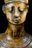 Bust of Queen Nefertiti. On black background Stock Photos