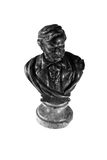 Bust of richard wagner, black and white. Bust of richard wagner composer, isolated on white background Stock Image