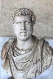 Bust of Roman emperor Antoninus Pius. Ancient Agora, Athens, Greece Royalty Free Stock Image