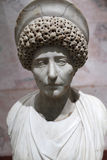 Bust of a roman woman. Ancient Rome, late 1st - early 2nd century, marble Stock Images