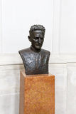 Bust of Rupert Mayer. Bust of Pater Rupert Mayer - German priest and a leading figure of the Catholic resistance to Nazism in Munich, metal sculpture on stone Stock Image