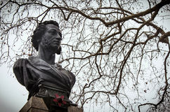 Bust of a Russian poet Pushkin. Odessa Royalty Free Stock Images