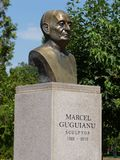 Bust of Marcel Guguianu - Bârlad Stock Photos