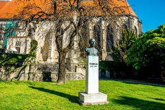 Bust sculpture of Anton Bernolak in Bratislava Stock Photo