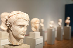 Bust Sculptures in Altes Museum Berlin royalty free stock image