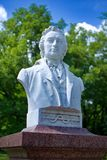 Bust of the spa doctor Vincenc Bernard Adler - Frantiskovy Lazne Stock Photos
