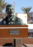 Bust Statue at EL Malecon, Puerto Penasco, Mexico. Statue of Luis Donaldo Colosio M. 1950-1994 located at El Malecon near the stage and walkway along the Sea of Stock Photo