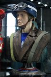 Bust Steve Rogers Figure Model on display at The M Cafe royalty free stock photography