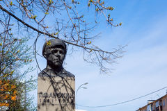 Bust to Peter Fedorovich Anokhin in Petrozavodsk. Bust to Petro Fedorovich Anokhin in Petrozavodsk at the intersection of Anokhin street with Lenin Avenue. P.F Royalty Free Stock Images
