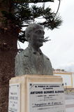 Bust to the Spanish composer and pianist Antonio Alvarez Alonso in Cartagena. royalty free stock photo