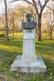 Bust Todor Alexandrov in the Sea Garden of Bourgas, Bulgaria Stock Photo