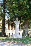 Bust in urban public park Giardini Salvi Royalty Free Stock Photos