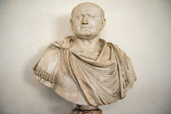 Bust of Vespasian, Uffizi Gallery, Florence stock photo