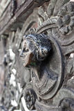 Bust of a woman in bronze. As a detail of fencing of  Colleoni chapel in Bergamo Royalty Free Stock Images