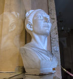 Bust of woman. Bust, sculpted of the upper part of the human figure Stock Image