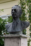 The bust of the writer Ivan Bunin in Yelets Stock Image