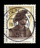 Bust of a Young Man by Conrad Meit, miniature. GERMANY - CIRCA 1967: Postage stamp printed in Germany West Berlin, shows bust of a Young Man by Conrad Meit royalty free stock photos