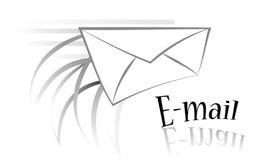 busta del email in in bianco e nero Fotografie Stock Libere da Diritti