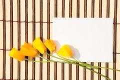 Busta della carta kraft con un messaggio in bianco e con bello Fotografia Stock Libera da Diritti