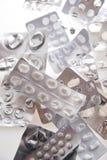 Busta delle pillole usate Immagine Stock Libera da Diritti