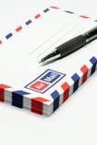Busta e penna Fotografia Stock