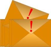 Busta urgente del email fotografie stock libere da diritti