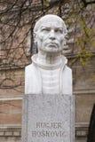Buste av Rugjer Boskovic i Zagreb, Kroatien arkivbilder