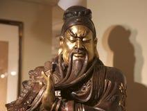Buste d'une statue chinoise de guerrier dans un musée Images libres de droits