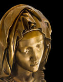 Buste de bronze de Mary de mère Image libre de droits