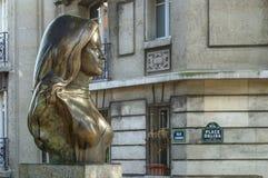Buste de chanteur de Dalida French photo stock