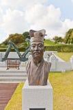 Buste de Jang Yeong Sil dans le château de Dongnae à Busan, Corée Image libre de droits