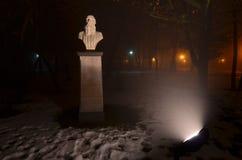 Buste de Leo Tolstoy en parc de Bucarest photo stock