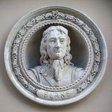 Buste de médaillon d'amiral Robert Blake à Greenwich Image libre de droits
