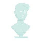Buste de marbre d'homme illustration de vecteur