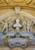 Buste de pape Lion dans le musée de Vatican photographie stock libre de droits