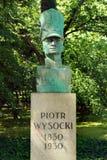 Buste de Piotr Wysocki à Varsovie, Pologne Photo stock