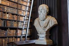 Buste de Socrates dans l'université de trinité Image stock
